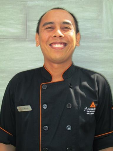 今天的特色菜由巴厘岛水明漾安纳塔拉度假会的Dadi 大厨为您呈现。