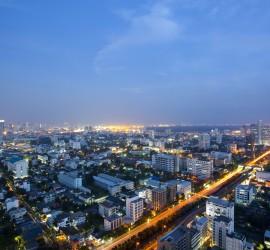 Breathtaking View of Bangkok's City Skyline