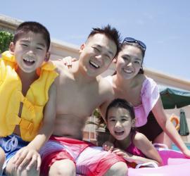 family fun at the pool