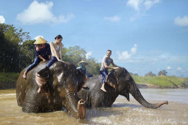 Elephant bath time fun