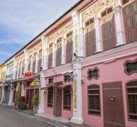 The Old Town Phuket Chino Portuguese Style at soi rommanee talang road, Phuket Town, Phuket, Thailand, Landmark