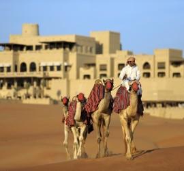 Camel trekking in nomadic tradition