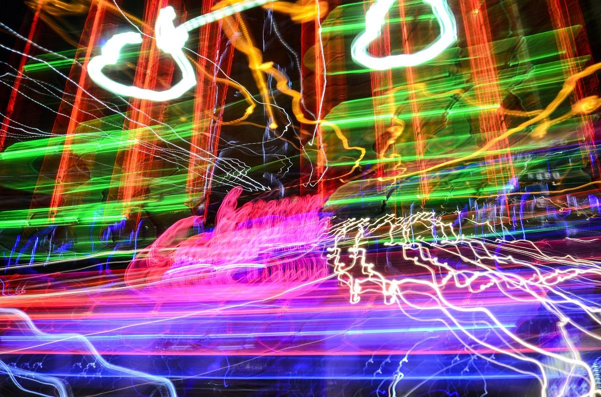 Neon color motion