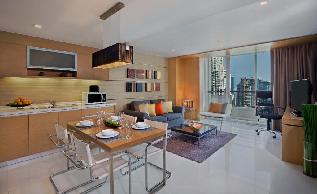 Living room at Anantara Vacation Club Bangkok