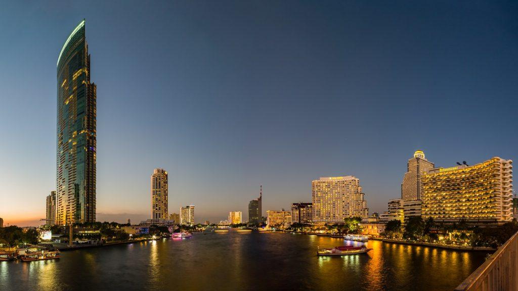 Chao Phraya River at dusk
