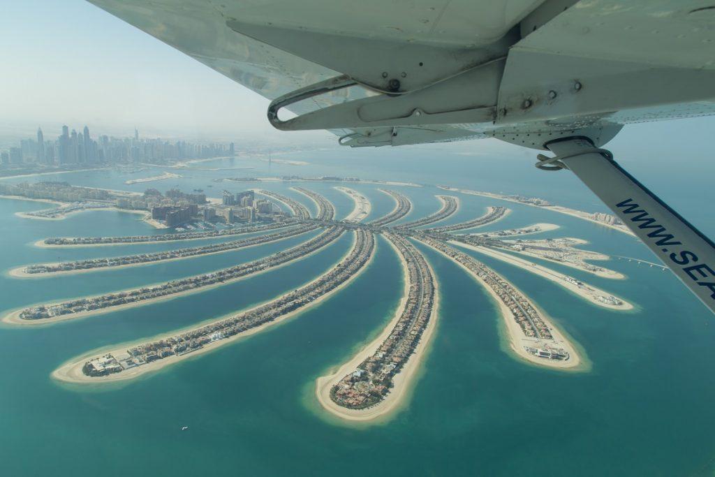Aerial View of Palm Jumeirah, Dubai