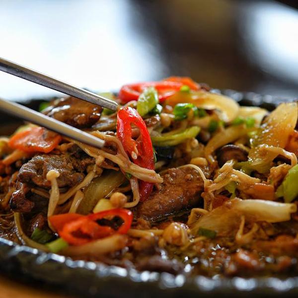 Spicy Korean dish at GAON Korean BBQ Restaurant Koh Samui - The Best Eateries Koh Samui Has to Offer