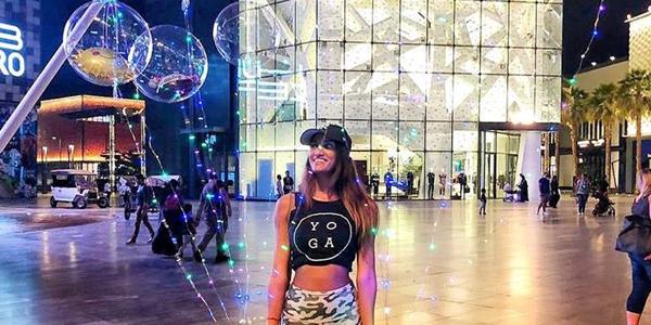 Girl Walking though City Walk Dubai mall - Shopping in Dubai